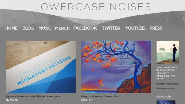 custom music and merch links in banner with navbar hidden