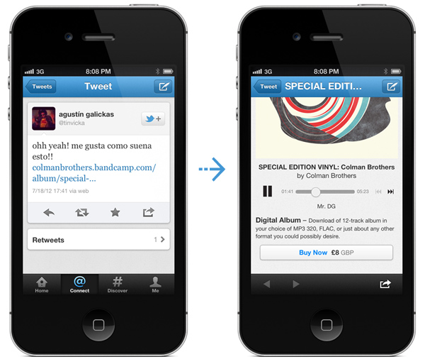 mobile artist site from tweet