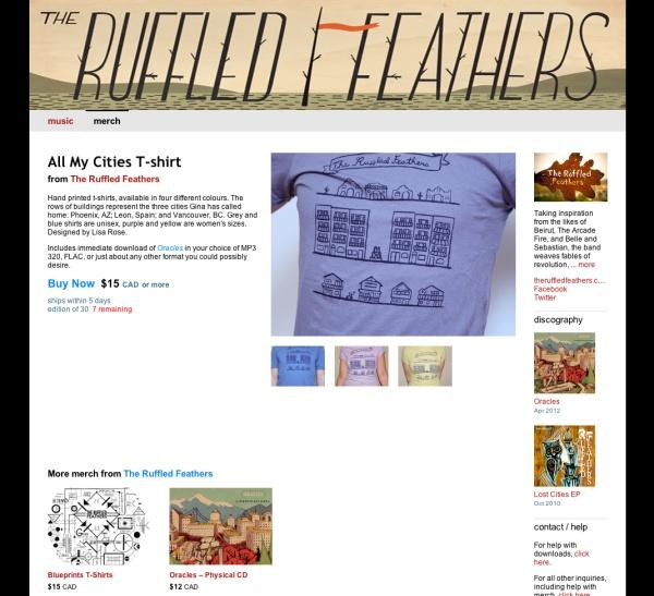 merch item page