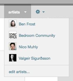 artist menu