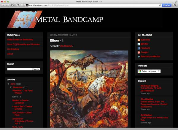 metal bandcamp website