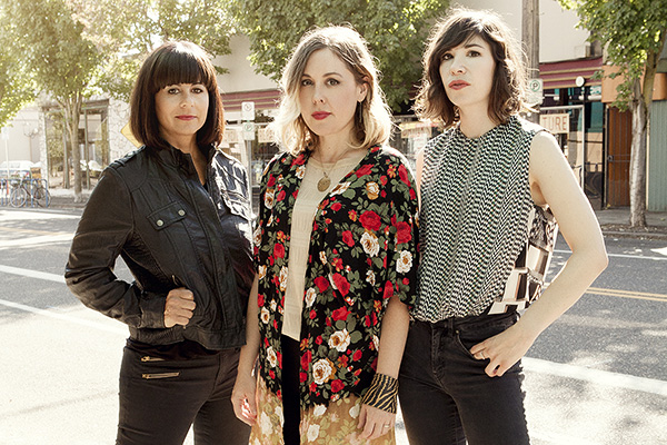 Sleater Kinney, photo by Brigitte Sire