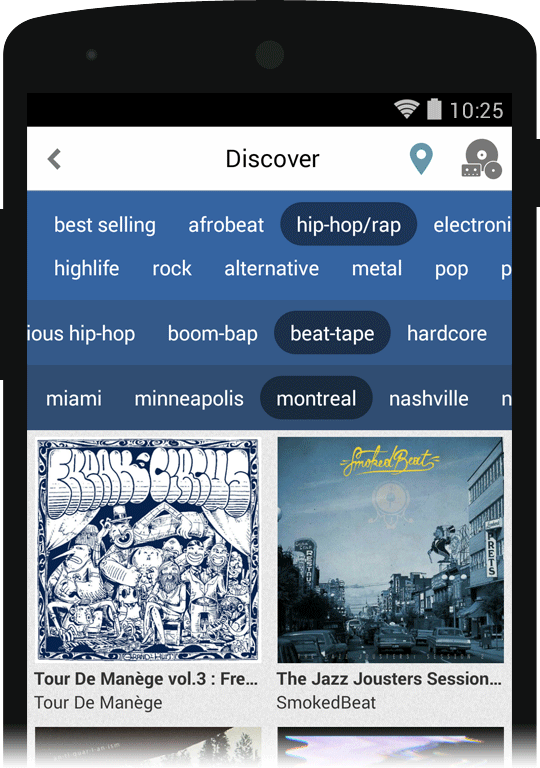 App update: browse by genre, location, and format « Bandcamp