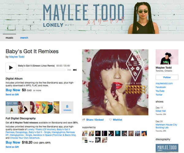Buy full digital discography | Maylee Todd