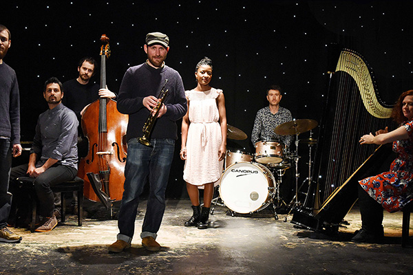 Matthew Halsall and The Gondwana Orchestra photo by Simon Hunt