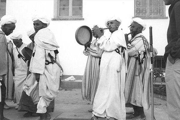 qsbah flute bendir players