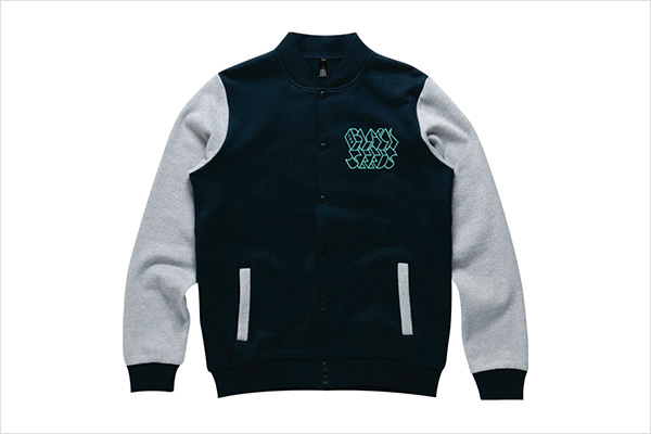 The Black Seeds Embroidered Varsity Jacket