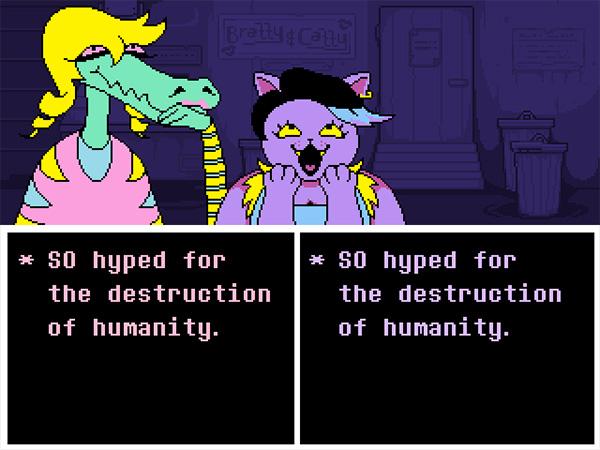 Screenshot from Undertale