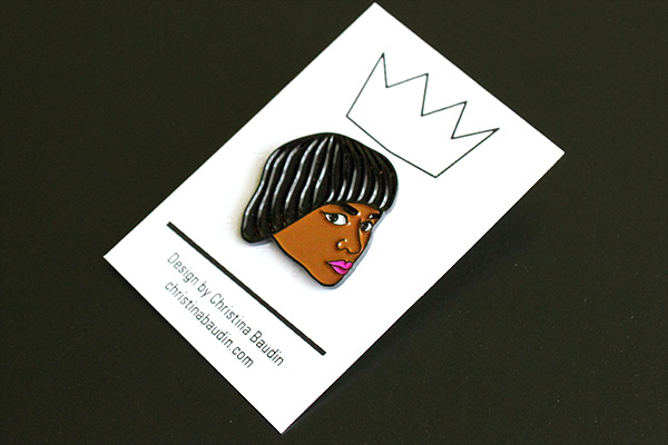 Jef Elise Barbara Lapel Pin