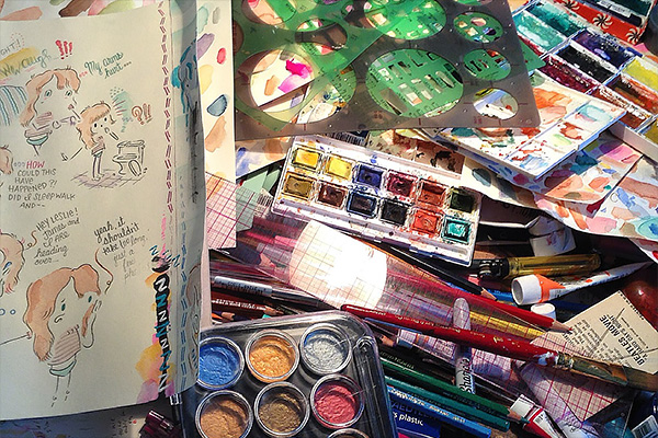 Leslie Stein's studio