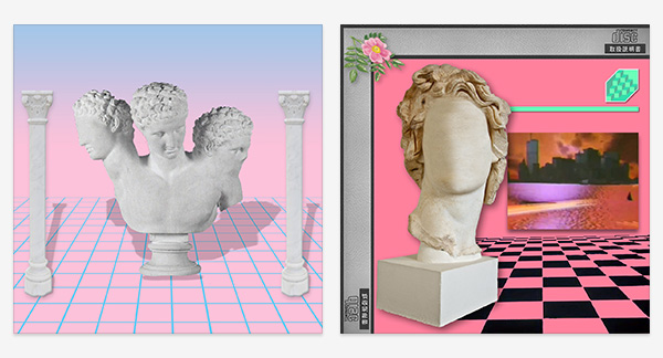 Doric columns and neo-classicism in vaporwave covers