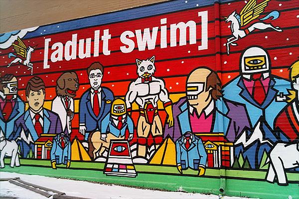 Adult Swim's mural in Chicago. Photo by Brian Johnson & Dane Kantner.