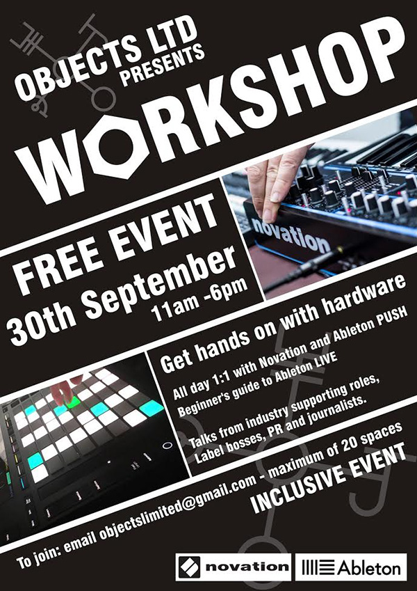 Flyer for Object LTD's workshop