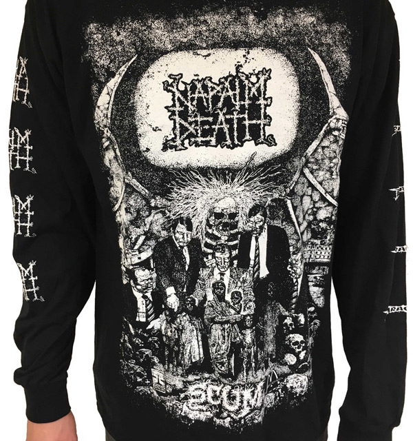 """c761c302 We could have made this list entirely out of """"longsleeves"""" but decided to  go with a straight up classic. A Napalm Death top emblazoned with pure metal  ..."""